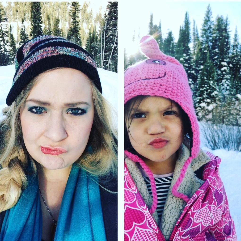 onyx and blush snow