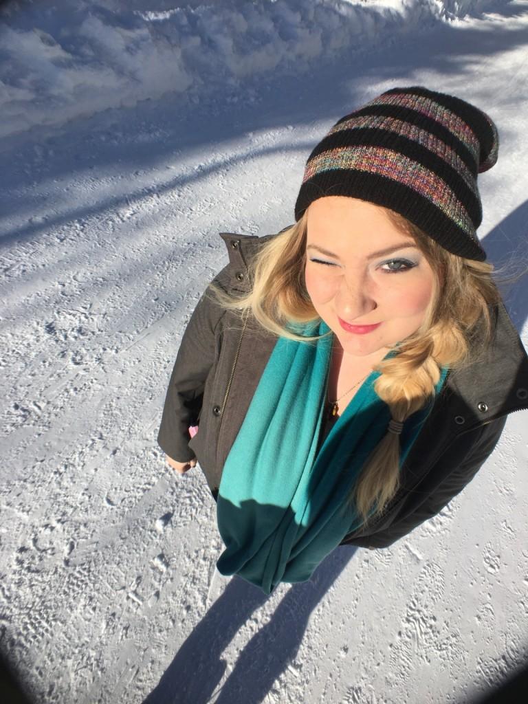 onyx and blush snow 1