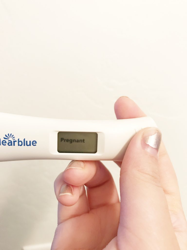 Pregnancy Test - Second Pregnancy, onyx and blush
