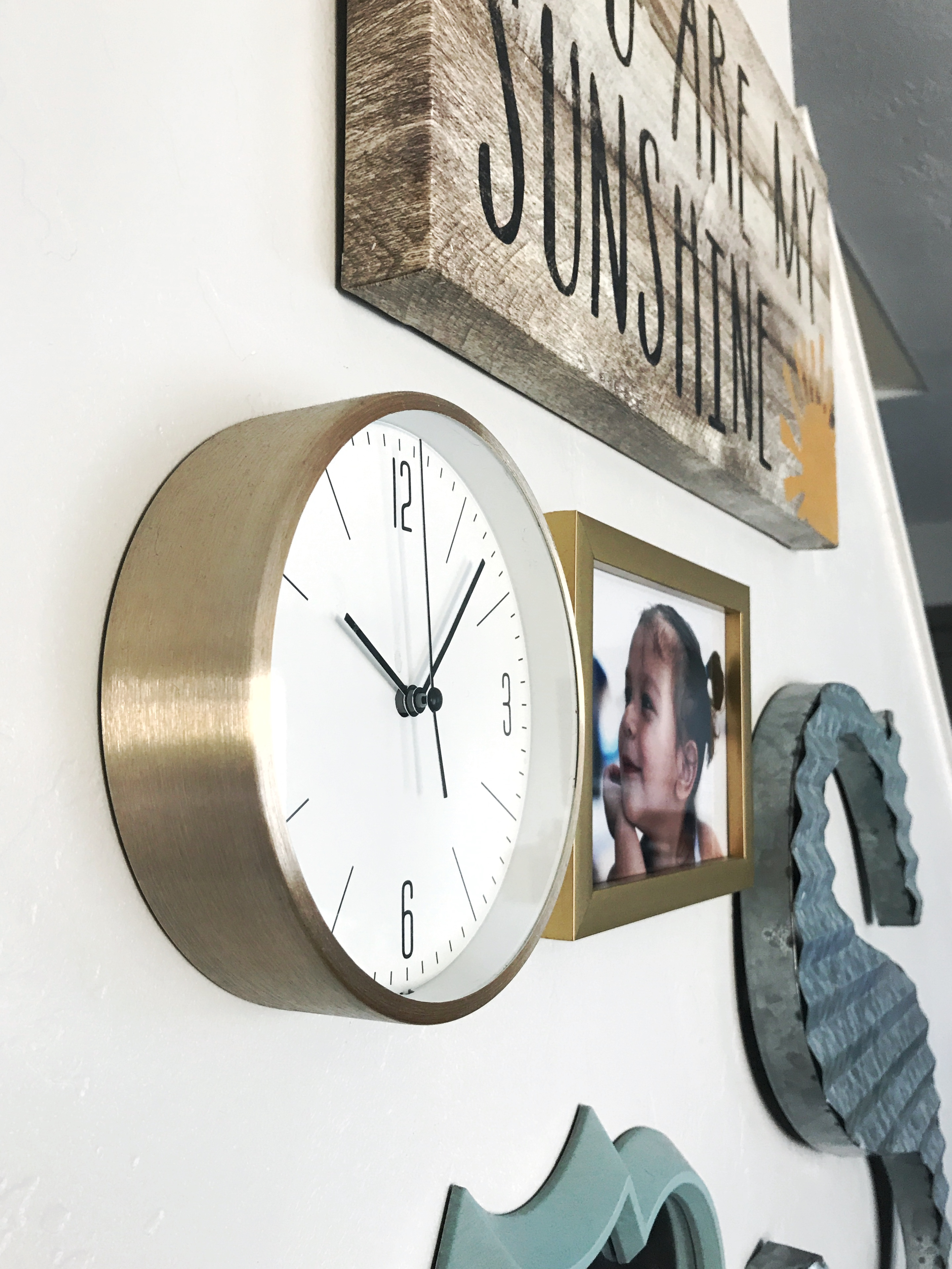 Small Gold Wall Clock | My Favorite Items for the Home from Target
