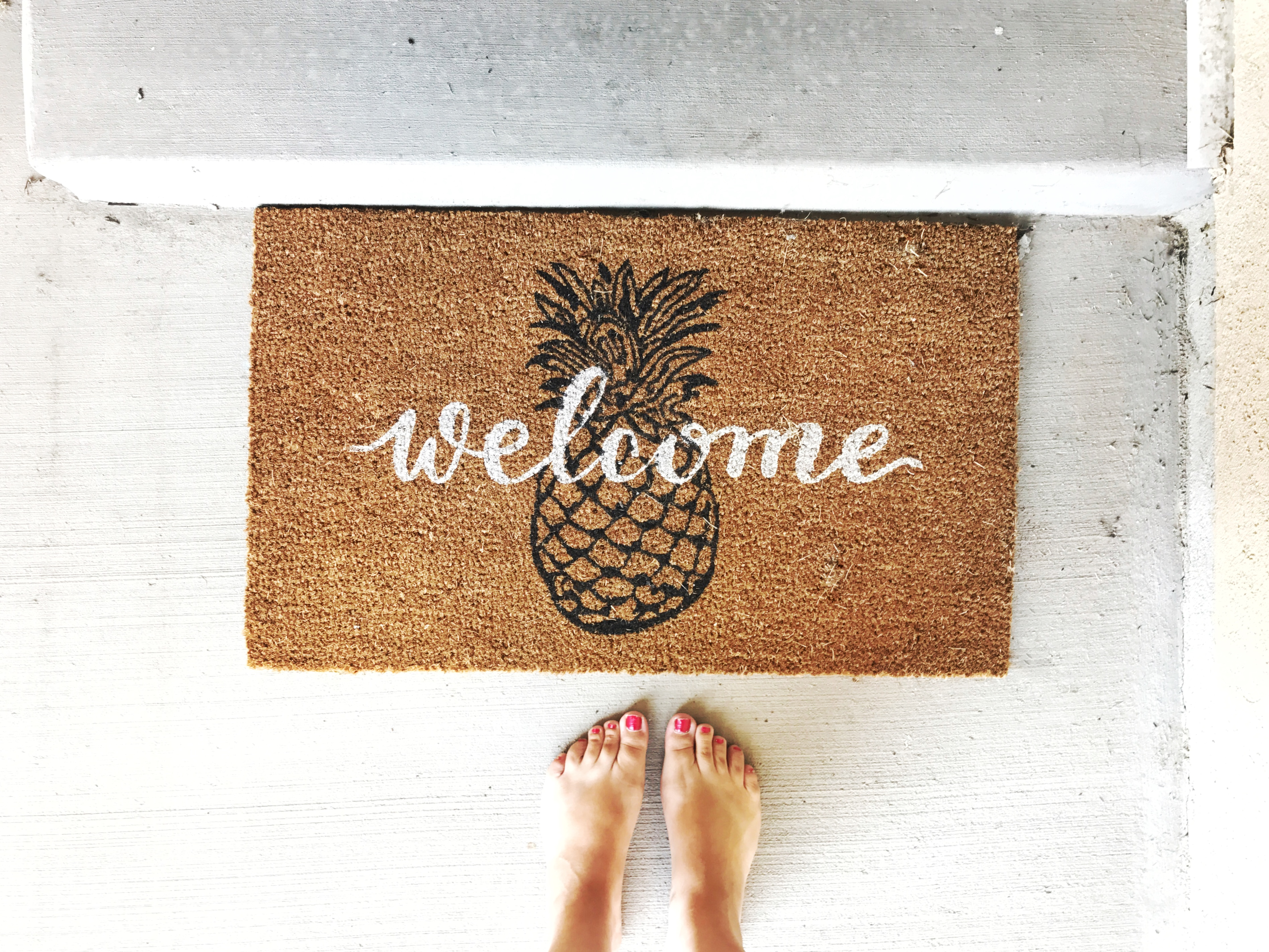 Pineapple Welcome Mat | My Favorite Home Decor from Target