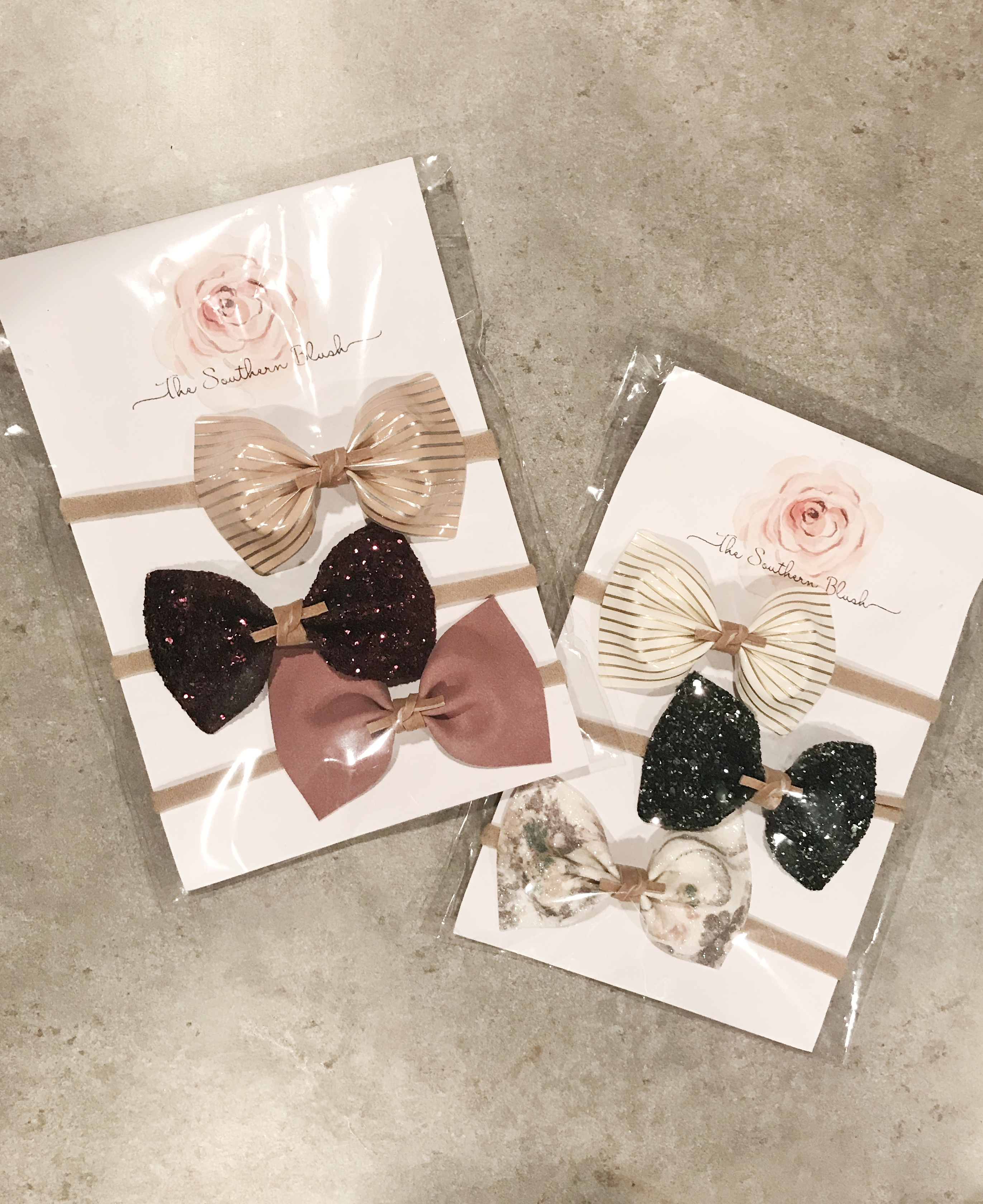 onyx and blush bows 6