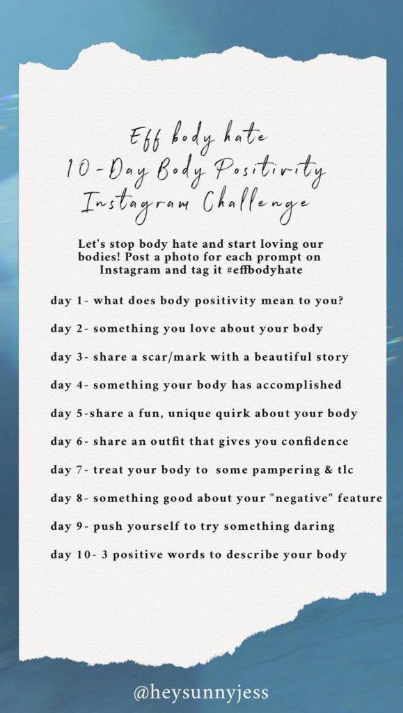Love yourself challenge instagram